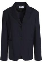 JIL SANDER | Jil Sander Woman Virgin Wool-blend Blazer Navy Size 38 | Clouty