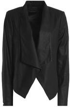Alice + Olivia | Alice + Olivia Woman Harvey Leather Jacket Black Size L | Clouty