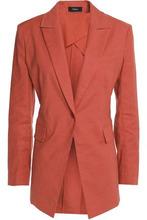 Theory   Theory Woman Linen-blend Poplin Blazer Brick Size 6   Clouty