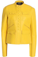 Rochas | Rochas Woman Leather Jacket Yellow Size 42 | Clouty