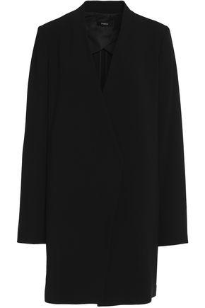 Theory   Theory Woman Asymmetric Crepe Blazer Black Size 6   Clouty