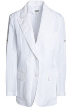 MM6 Maison Margiela   Mm6 By Maison Margiela Woman Cloque Blazer White Size 42   Clouty