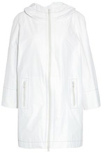 Brunello Cucinelli | Brunello Cucinelli Woman Bead-embellished Shell Hooded Jacket White Size 40 | Clouty