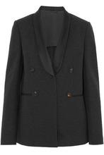 Brunello Cucinelli | Brunello Cucinelli Woman Satin-trimmed Pima Cotton-blend Blazer Black Size 42 | Clouty