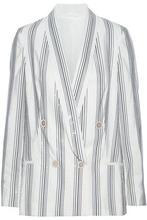 Brunello Cucinelli | Brunello Cucinelli Woman Sequin-embellished Silk-blend Blazer Off-white Size 42 | Clouty