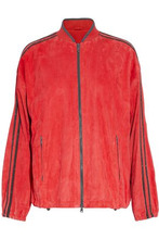 Brunello Cucinelli | Brunello Cucinelli Woman Bead-embellished Suede Jacket Red Size 40 | Clouty