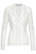 Stella McCartney | Stella Mccartney Woman Embroidered Twill Blazer White Size 38 | Clouty
