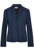 JIL SANDER | Jil Sander Woman Cotton-poplin Blazer Navy Size 40 | Clouty