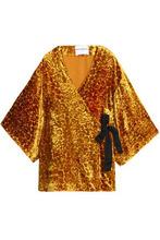PERSEVERANCE   Perseverance Woman Devore-velvet Kimono Yellow Size XS   Clouty