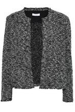 IRO | Iro Woman Frayed Boucle-tweed Jacket Black Size 40 | Clouty