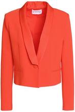 Claudie Pierlot | Claudie Pierlot Woman Valerianne Cropped Crepe Blazer Bright Orange Size 36 | Clouty