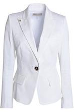 Emilio Pucci   Emilio Pucci Woman Cotton-blend Twill Blazer White Size 42   Clouty
