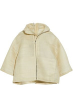 RICK OWENS | Rick Owens Woman Coated Woven Calf Hair-blend Jacket Beige Size 40 | Clouty