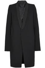 RICK OWENS   Rick Owens Woman Draped Wool-blend Gabardine Coat Black Size 40   Clouty