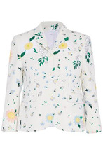 Thom Browne | Thom Browne Woman Embroidered Cotton-tweed Blazer White Size 42 | Clouty