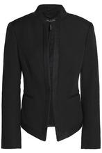 RAG & BONE | Rag & Bone Woman Waverly Grosgrain-trimmed Cotton-blend Pique Jacket Black Size 2 | Clouty