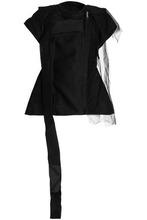 RICK OWENS   Rick Owens Woman Paneled Cotton Jacket Black Size 40   Clouty