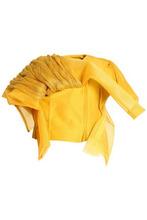 RICK OWENS | Rick Owens Woman Draped Paneled Cotton Jacket Saffron Size 40 | Clouty