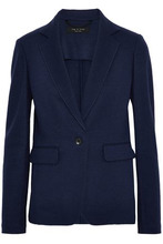 RAG & BONE | Rag & Bone Woman Club Wool-jersey Blazer Navy Size 4 | Clouty