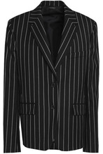 JIL SANDER | Jil Sander Woman Pinstriped Wool-blend Twill Blazer Black Size 38 | Clouty