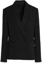 Stella McCartney   Stella Mccartney Woman Double-breasted Wool Blazer Black Size 44   Clouty