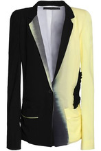 Haider Ackermann | Haider Ackermann Woman Appliqued Degrade Silk-twill Blazer Black Size 38 | Clouty