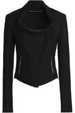 Roland Mouret | Roland Mouret Woman Cotton-blend Pique Jacket Black Size 14 | Clouty