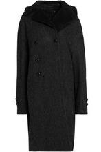 R13   R13 Woman Double-breasted Herringbone Wool Coat Charcoal Size M   Clouty