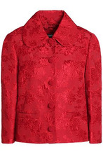Dolce & Gabbana | Dolce & Gabbana Woman Cotton And Silk-blend Matelasse Jacket Red Size 40 | Clouty