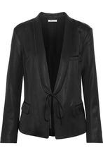 T by Alexander Wang | T By Alexander Wang Woman Tie-front Dupioni Blazer Black Size XS | Clouty