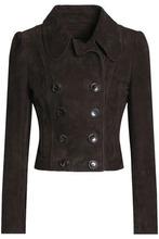 Magda Butrym   Magda Butrym Woman Philadelphia Suede Jacket Dark Brown Size 34   Clouty