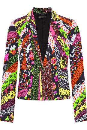 Versace | Versace Woman Printed Crepe Blazer Multicolor Size 38 | Clouty
