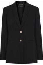 Versace   Versace Woman Silk-crepe Blazer Black Size 40   Clouty
