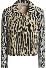 VALENTINO | Valentino Woman Jacquard Jacket Animal Print Size 8 | Clouty