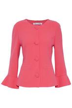 Oscar De La Renta | Oscar De La Renta Woman Wool-blend Jacket Bubblegum Size 8 | Clouty