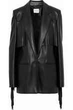 Magda Butrym | Magda Butrym Woman El Paso Fringed Leather Blazer Black Size 34 | Clouty