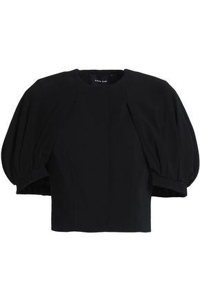 SIMONE ROCHA | Simone Rocha Woman Gathered Crepe Jacket Black Size 6 | Clouty
