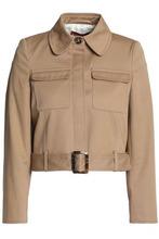 ALEXACHUNG   Alexa Chung Woman Belted Cotton-gabardine Jacket Sand Size 12   Clouty