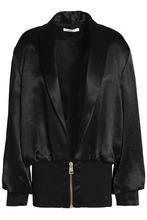 LANVIN | Lanvin Woman Gathered Satin Jacket Black Size 34 | Clouty