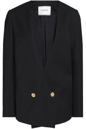 LANVIN | Lanvin Woman Double-breasted Wool-twill Blazer Black Size 36 | Clouty