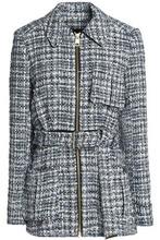 LANVIN | Lanvin Woman Belted Tweed Jacket Light Blue Size 40 | Clouty