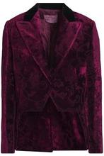 LANVIN | Lanvin Woman Velvet-jacquard Blazer Purple Size 38 | Clouty