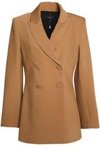 Ellery | Ellery Woman Double-breasted Woven Blazer Camel Size 10 | Clouty