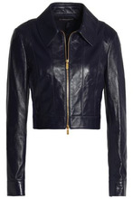 MICHAEL KORS | Michael Kors Collection Woman Leather Jacket Navy Size 14 | Clouty