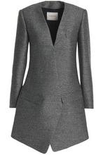 LANVIN   Lanvin Woman Melange Wool And Silk-blend Blazer Gray Size 34   Clouty