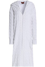Missoni | Missoni Woman Crochet-knit Cotton Hooded Cardigan White Size 40 | Clouty