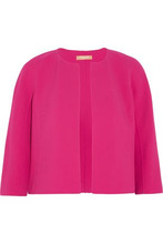 MICHAEL KORS | Michael Kors Collection Woman Stretch Wool-blend Woven Jacket Fuchsia Size 6 | Clouty
