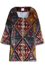 Stella Jean | Stella Jean Woman Printed Chenille Jacket Mustard Size 40 | Clouty