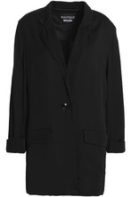 Boutique Moschino | Boutique Moschino Woman Satin Blazer Black Size 44 | Clouty