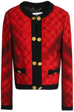 MOSCHINO | Moschino Woman Printed Crepe Jacket Crimson Size 38 | Clouty